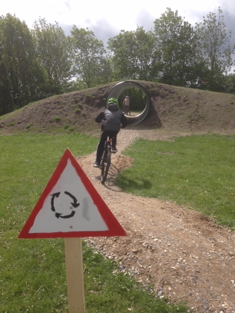 Cykelbane på Fårup skole